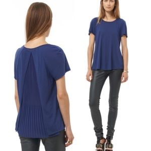 REBECCA TAYLOR | SMALL | BLUE TOP WITH SHEER BACK